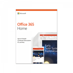 Phần mềm Microsoft Office 365 Home 32 bitx64 English Subscr 1YR APAC EM Medialess